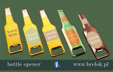 Botlle openers with epoxy sticker