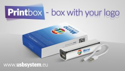 Printbox - boxes with your logo! Especially for Flash Drives and Powerbanks from our offer.