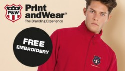 Free embroidery at Mid Ocean Brands