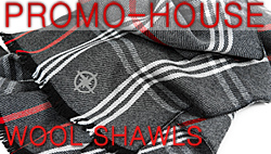 JACQUARD WOVEN SHAWLS MADE IN WOOL