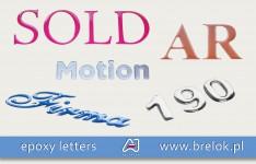 Epoxy letters