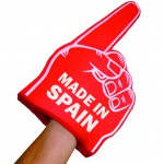 Animated giant animation hands in foam rubber custumized made in Spain