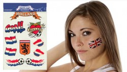 Face Fan Temporary Tattoo sports & countries for 2018 World Cup