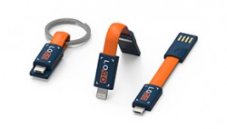 inCharge the smallest keyring cable (colors are customizable)