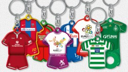 sport shaped keyrings