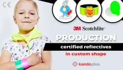 Custom shape reflectives production