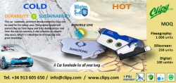 Clpy Wintershield car protector. Ice and sun.