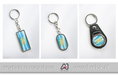 Metal and eco-leather keychains