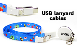USB lanyard cables