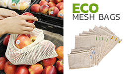 Reusable Mesh Cotton Bags for Fruits and Vegetables