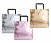 metallic look shopping bag