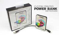 Custom printed Power Bank and packaging