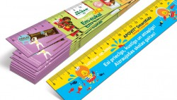 Plastic rulers and bookmarks