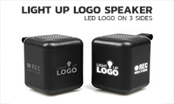 Light up logo speaker