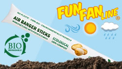 BIODEGRADABLE/COMPOSTABLE air bang sticks MADE IN EUROPE