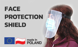 Low price face protection shield made in EU
