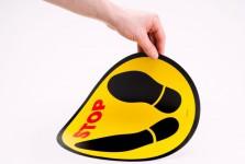 Floor stickers; Electrostatic stickers